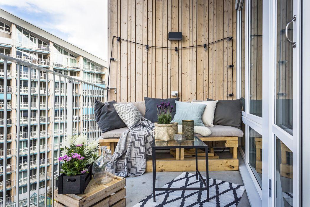 balkon inspiratie houten accenten
