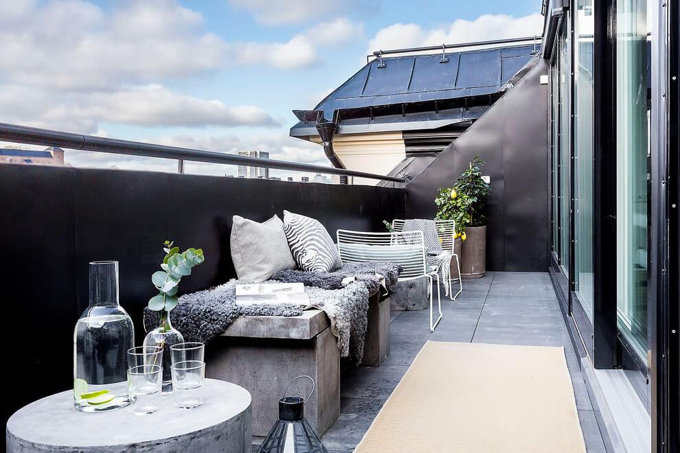 balkon inspiratie industrieel