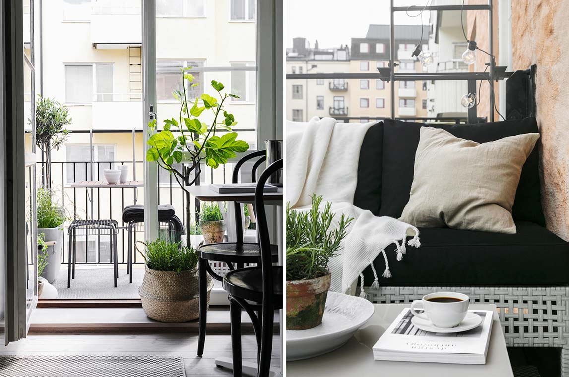 balkon inspiratie klein modern balkon