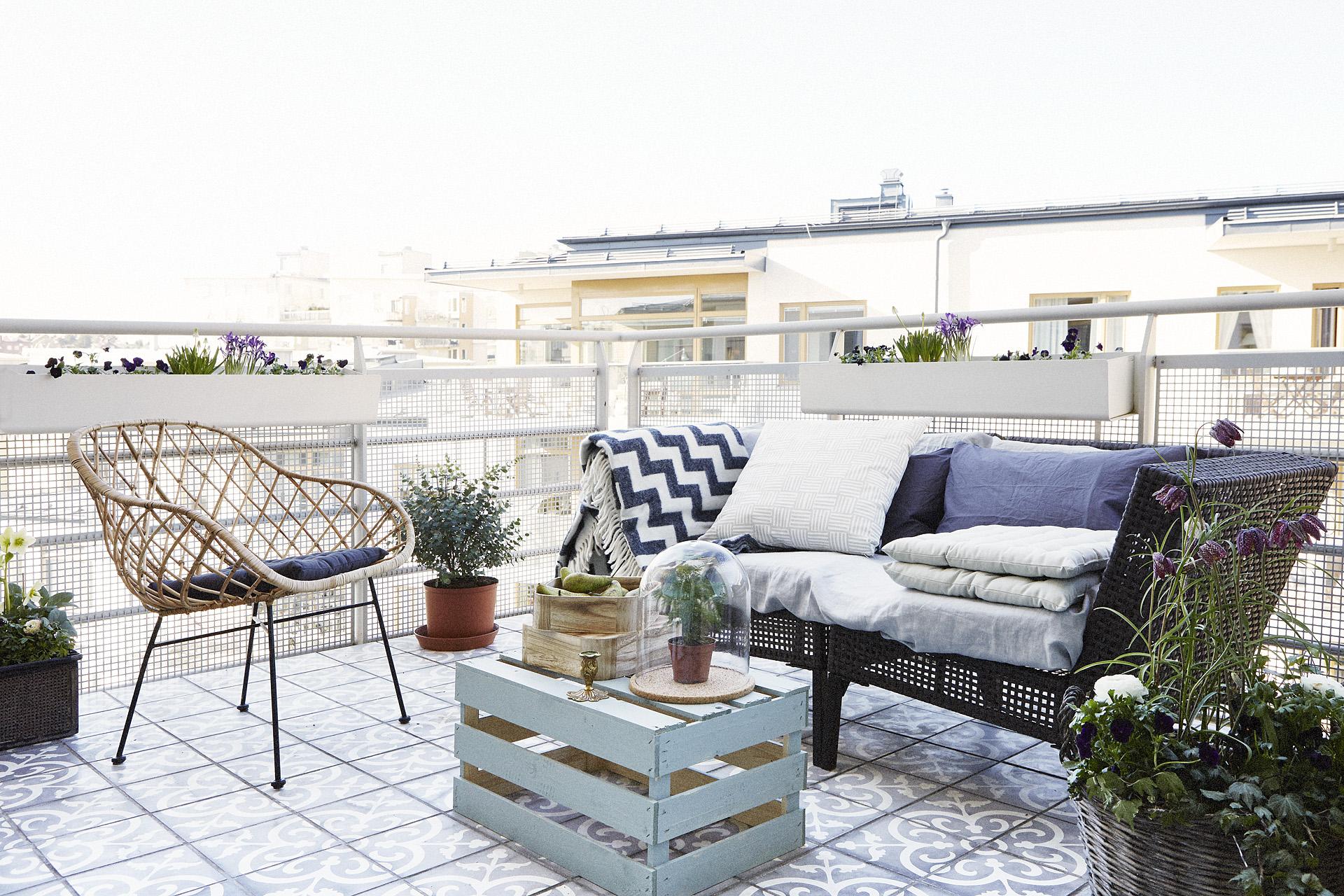 balkon inspiratie patroontegels