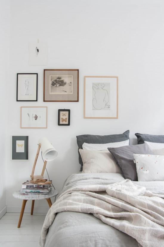 Scandinavische slaapkamer met pasteltinten - THESTYLEBOX