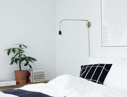 bedlampje gouden wandlamp