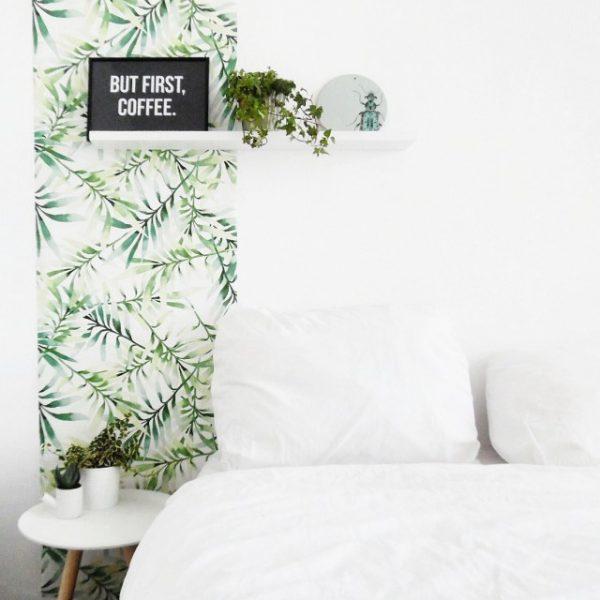 behang blad patroon
