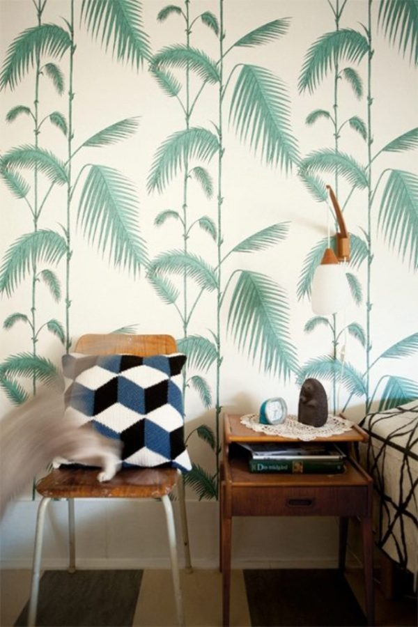 behang patroon groen