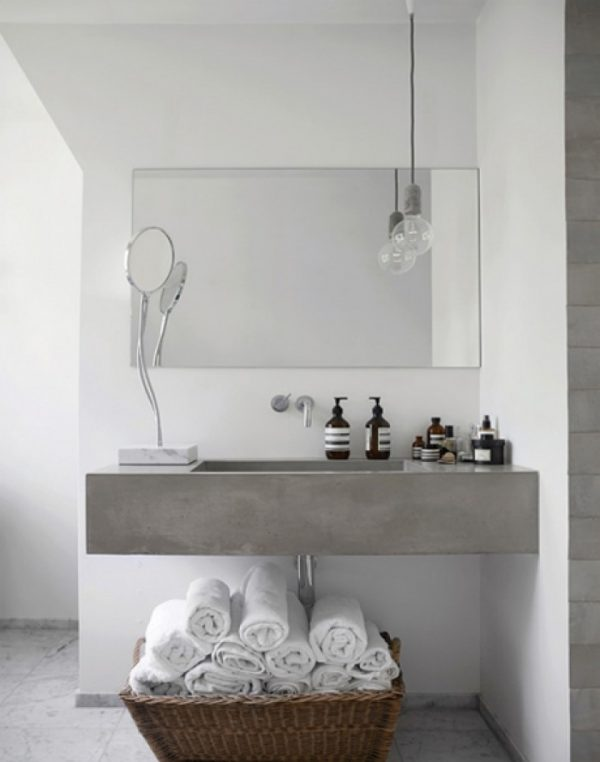 Beton in de badkamer - THESTYLEBOX