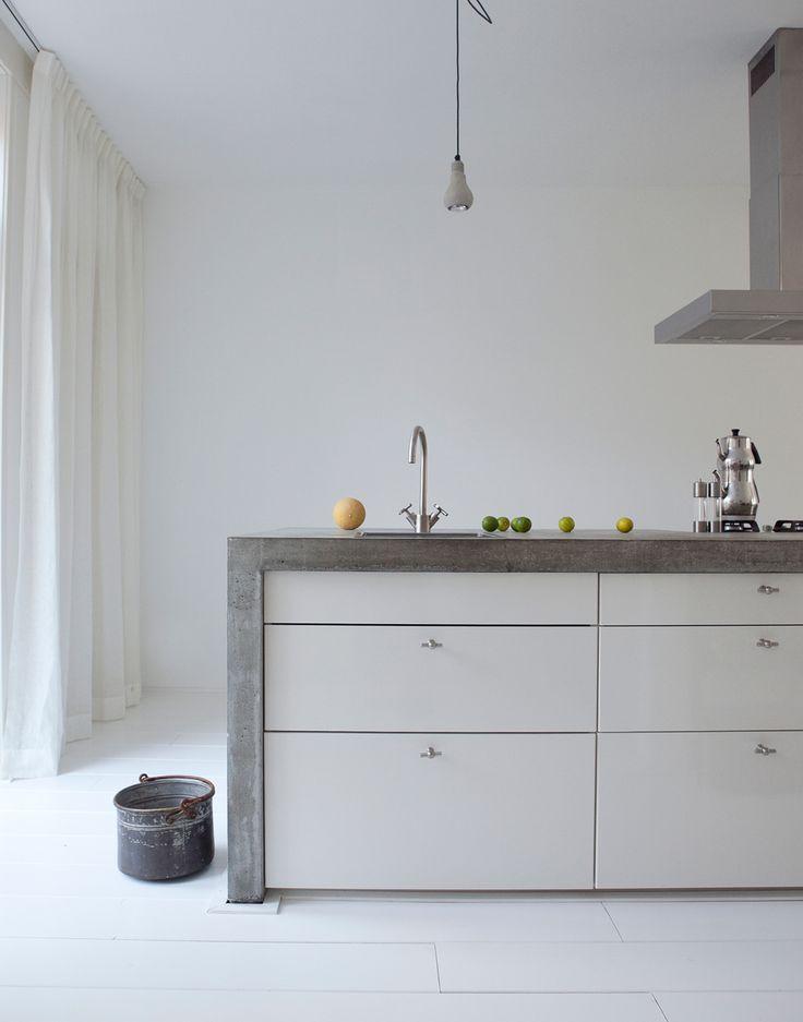 keuken wit beton blad dun