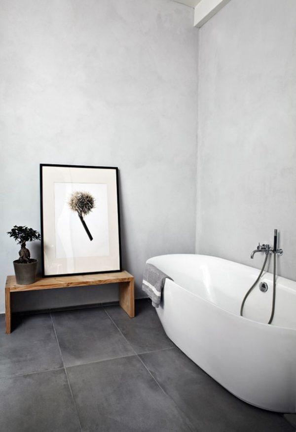 beton look muren badkamer