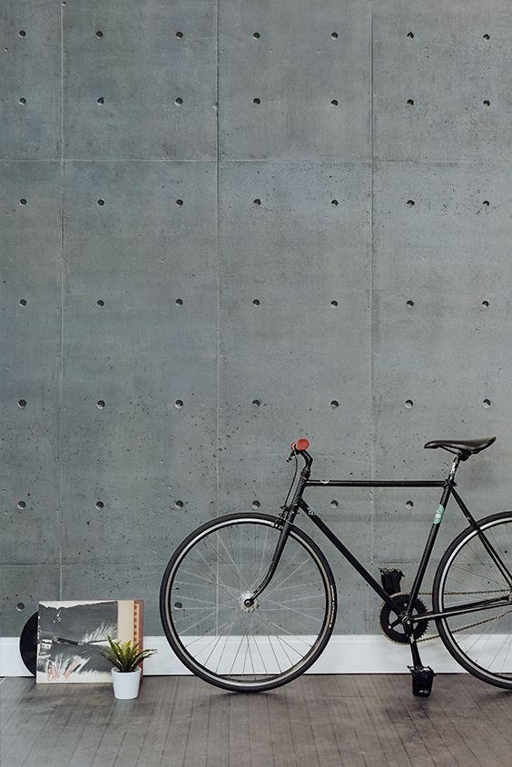 betonlook behang industrieel