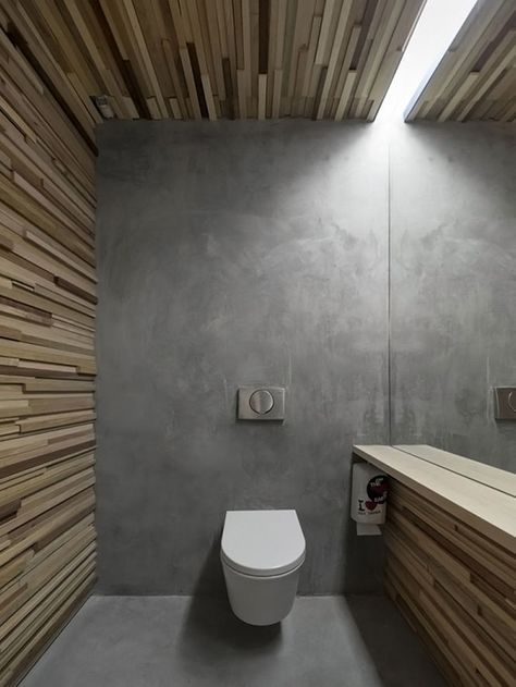 Betonnen vloer in de badkamer - THESTYLEBOX