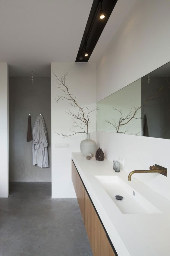 betonlook gietvloer badkamer