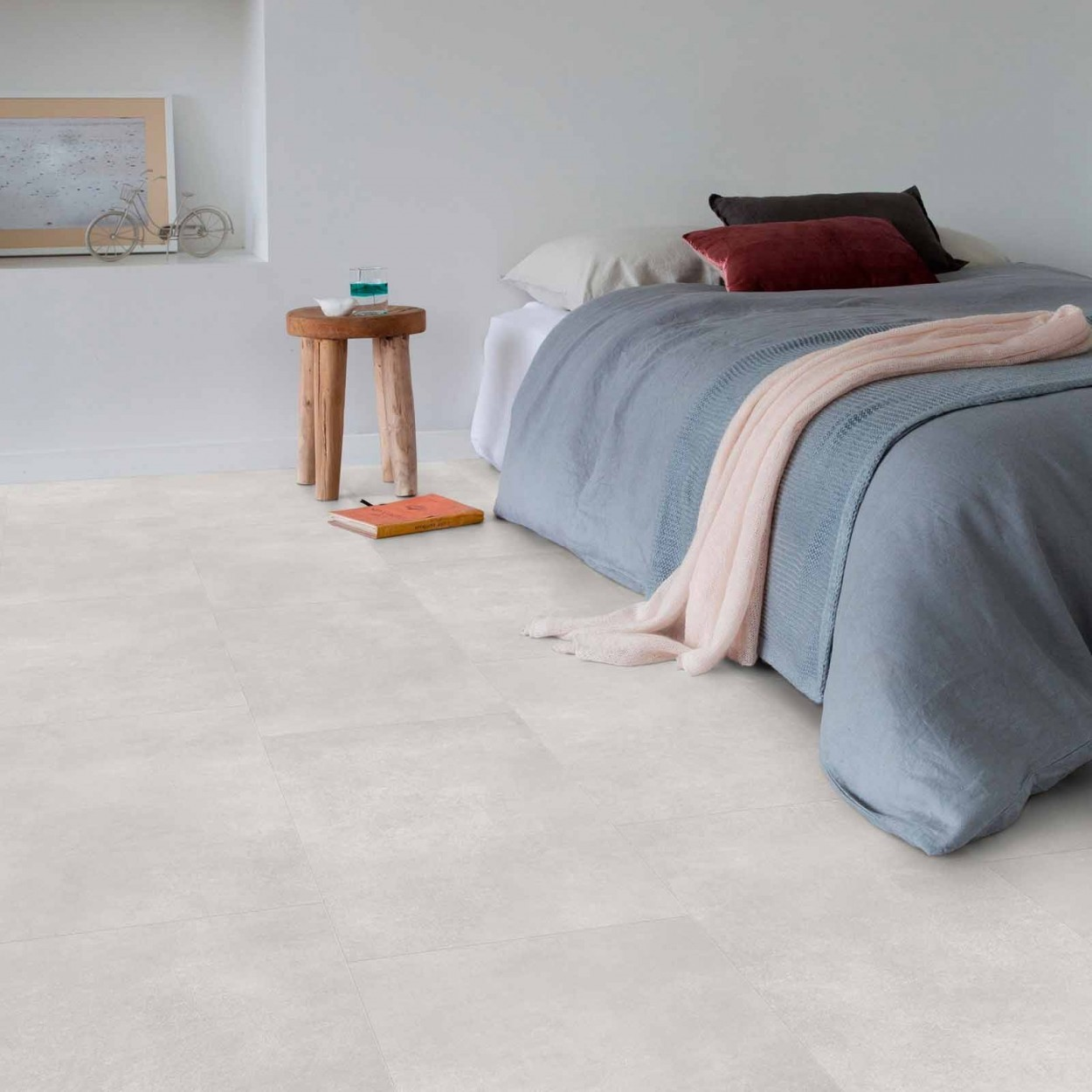 betonlook pvc slaapkamer