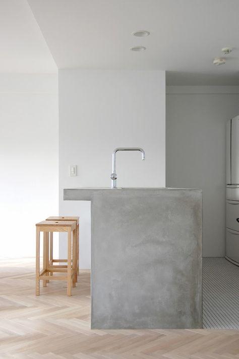 betonnen keukeneiland