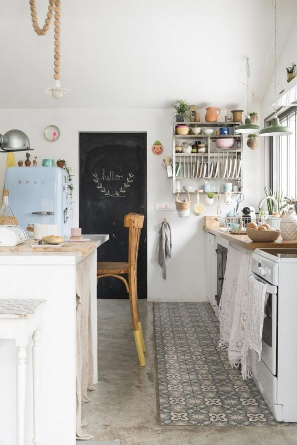 betonnen vloer keuken
