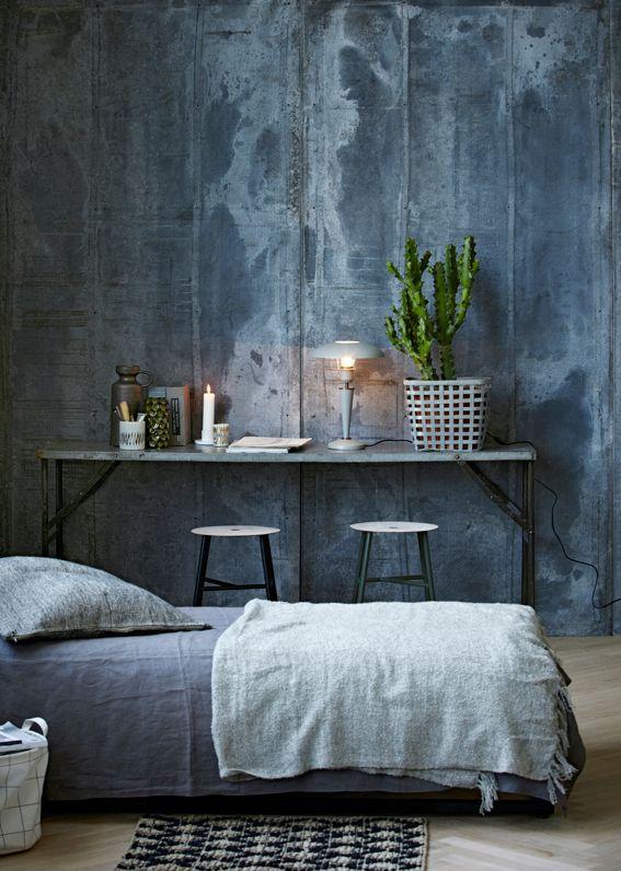 Trendkleur diep blauw thestylebox - Kleur muur slaapkamer tiener jongen ...
