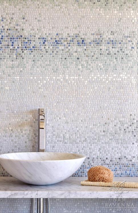 blauw mozaiek