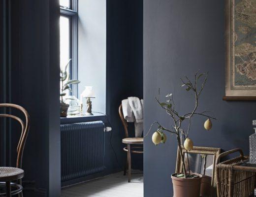 blauwe radiator
