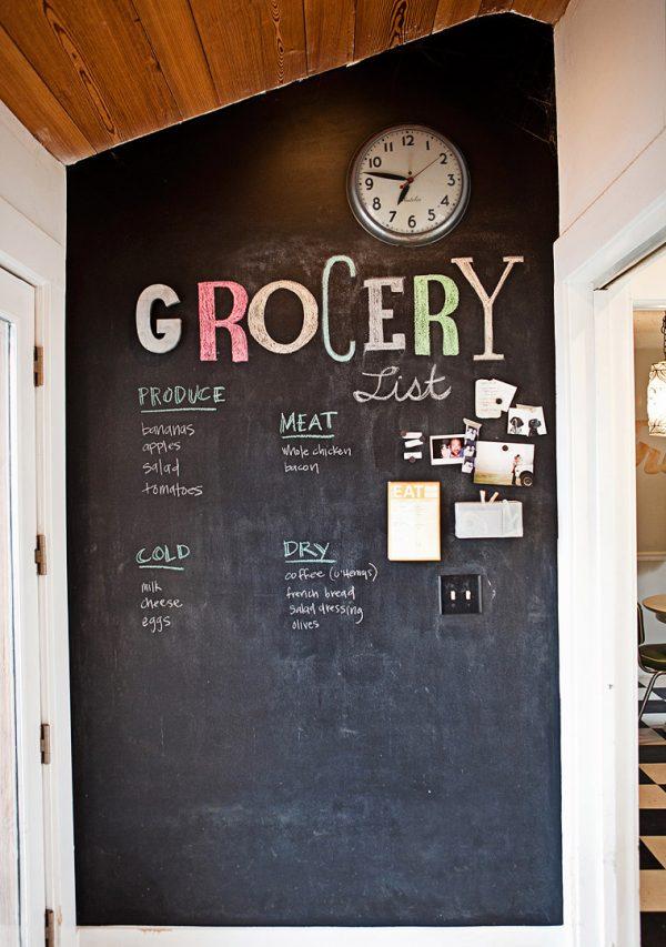 boodschappen schoolbord keuken
