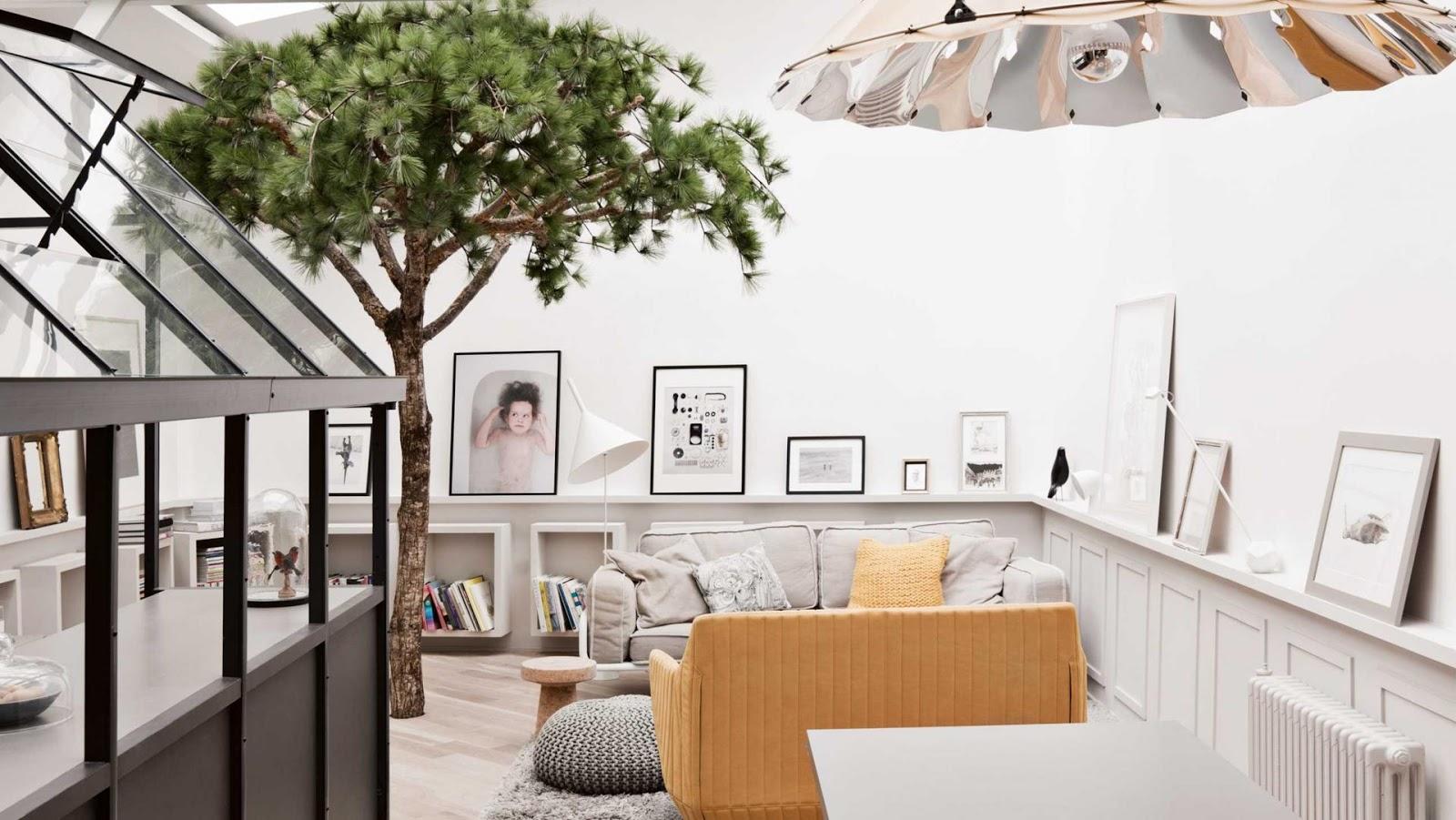 Appartement parijs: zwart wit geel   thestylebox