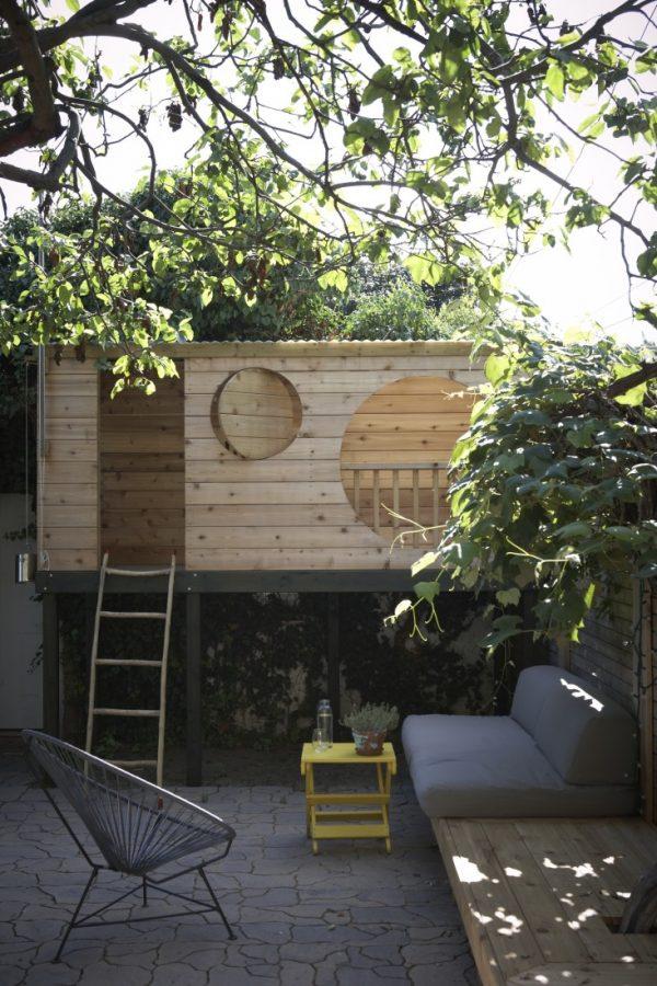 boomhut tuin hout
