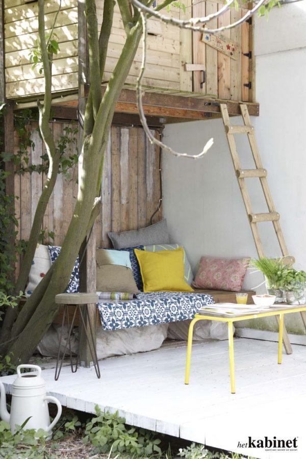 boomhut tuin patio