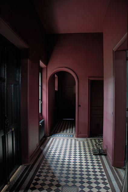 Bordeauxrode muren