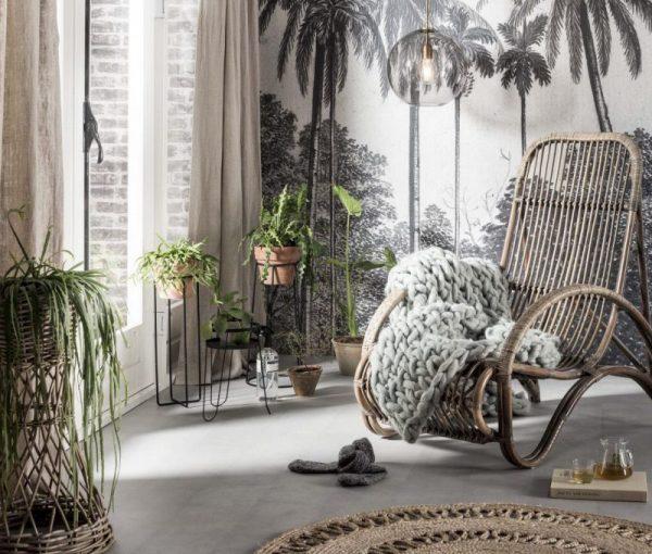 botanische print palmen
