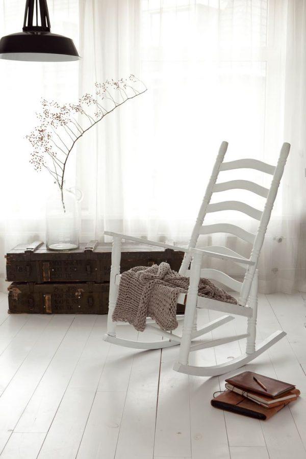 brocante schommelstoel