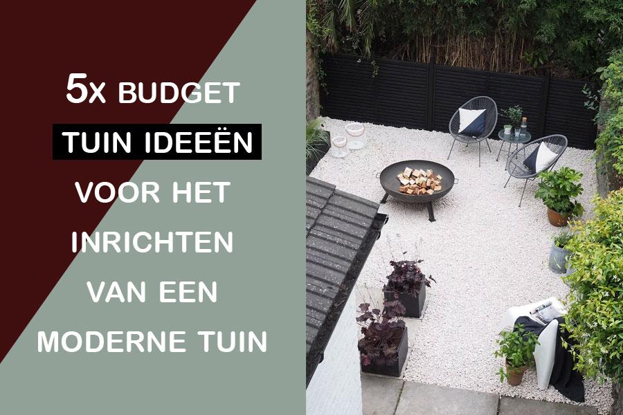 udget tuin ideeën voor het inrichten van een moderne tuin