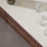 corian keukenwerkblad met spikkels