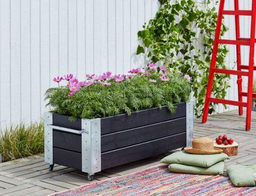 cubic verrijdbare plantenbak