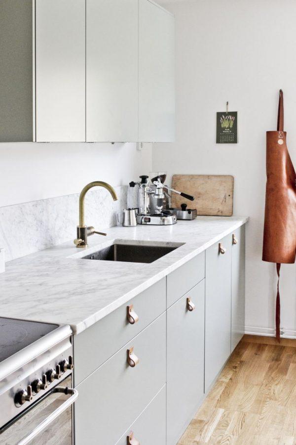 deurgrepen keuken leer