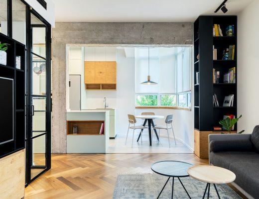 Dit kleine appartement van 53m2 is ingericht met een inspirerend, praktisch en mooi interieurontwerp!