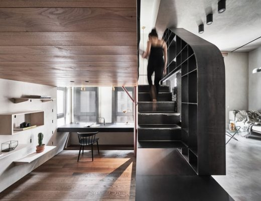 Dit stoere kleine appartement van 40m2 heeft drie niveau's!