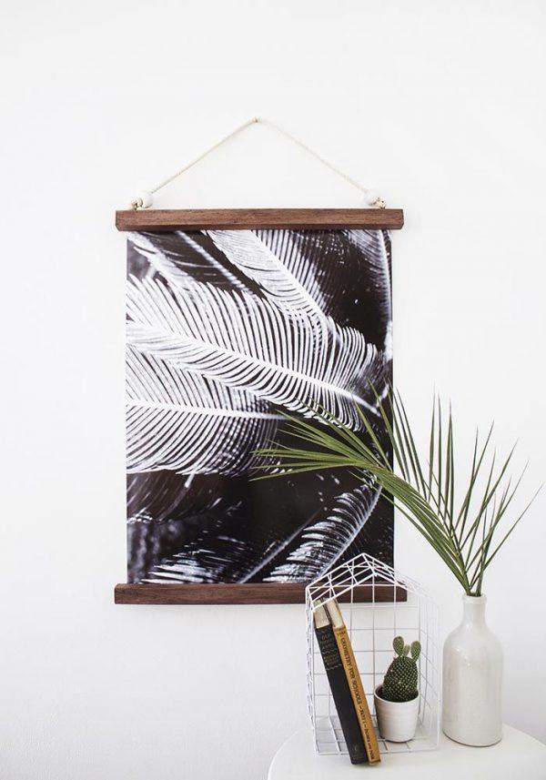 diy muurdecoratie frame poster