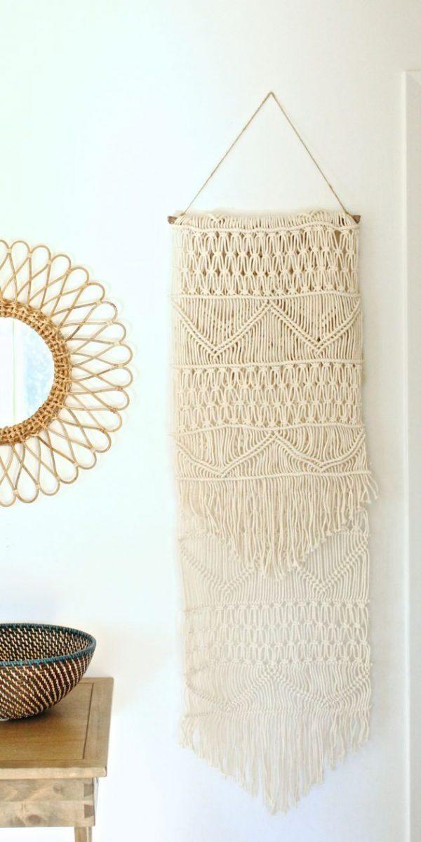 diy muurdecoratie hanger macrame