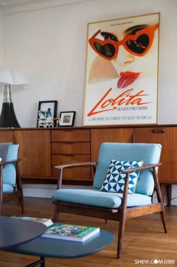 donker hout retro interieur