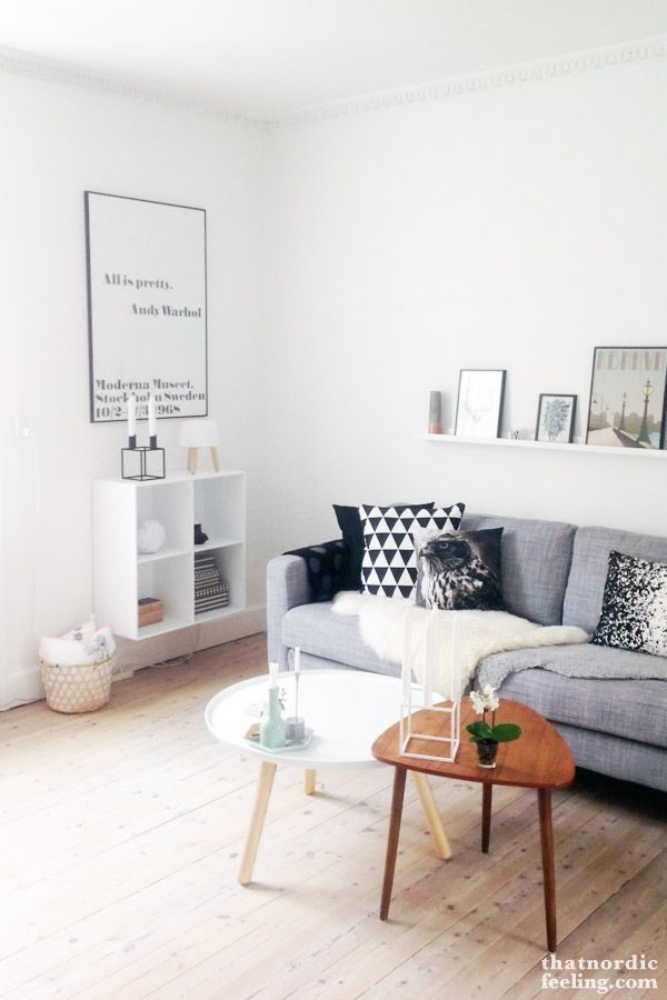 Donker hout in de woonkamer - THESTYLEBOX