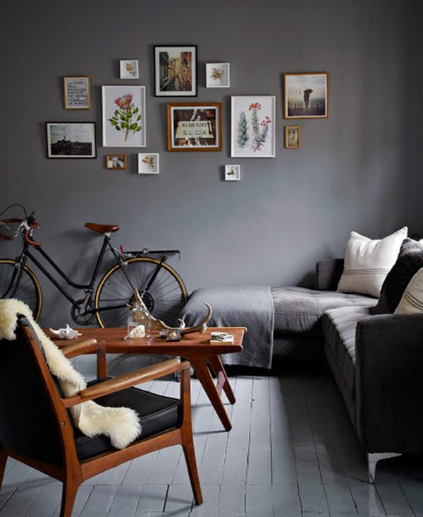 donkere kleur woonkamer