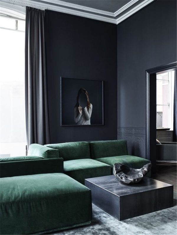 donkere kleuren interieur