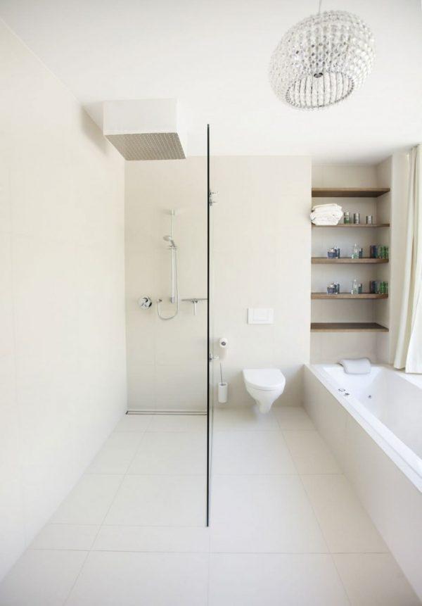 Badkamer Glazen Wand.Douche Met Glazen Wand Thestylebox