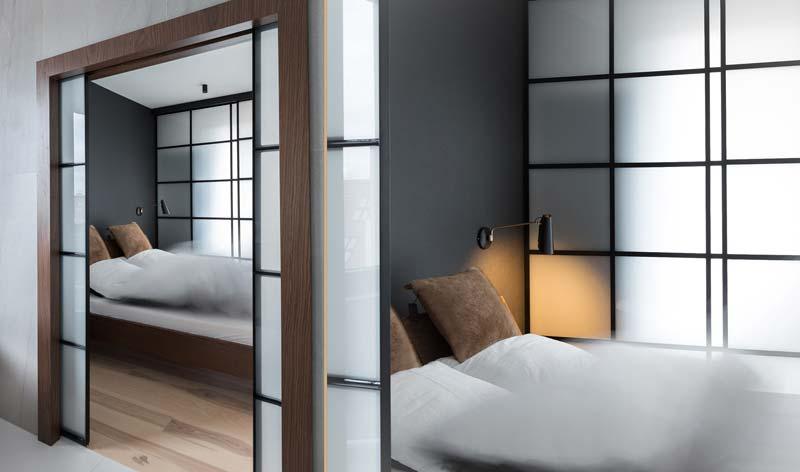 dubbele schuifdeuren slaapkamer melkglas