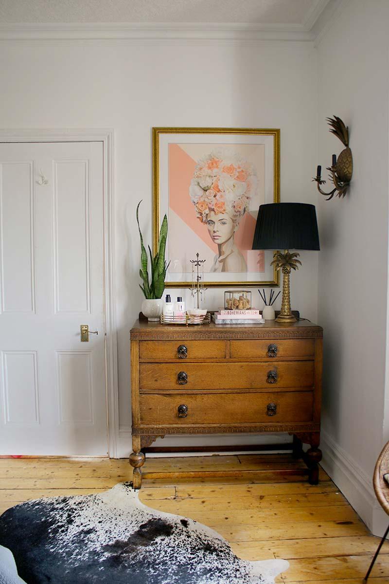 duurzame slaapkamer vintage meubels