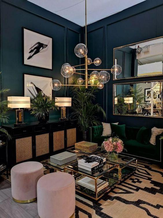 eclectisch interieur dressoir