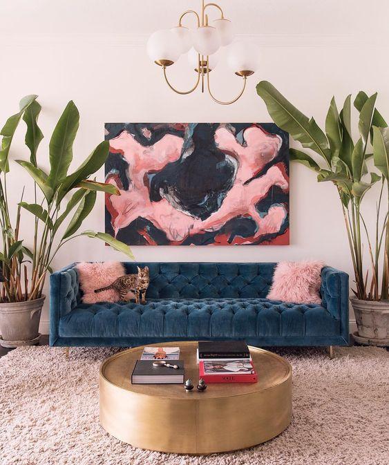 eclectisch interieur kunst