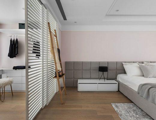 Een inspirerend mooie slaapkamer inloopkast combinatie!