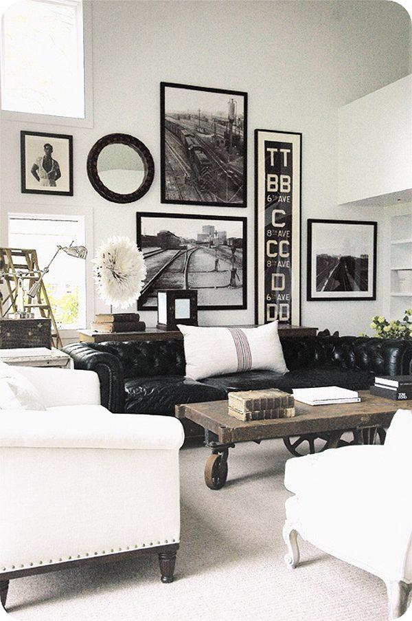 eigen foto's interieur zwart wit