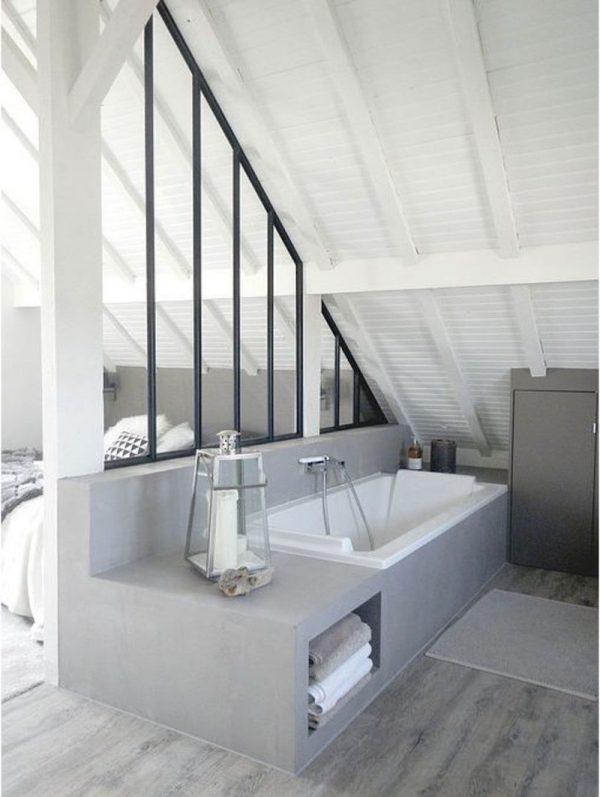 ensuite badkamer schuin dak