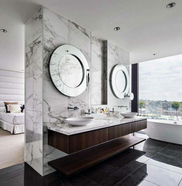 ensuite badkamer uitzicht