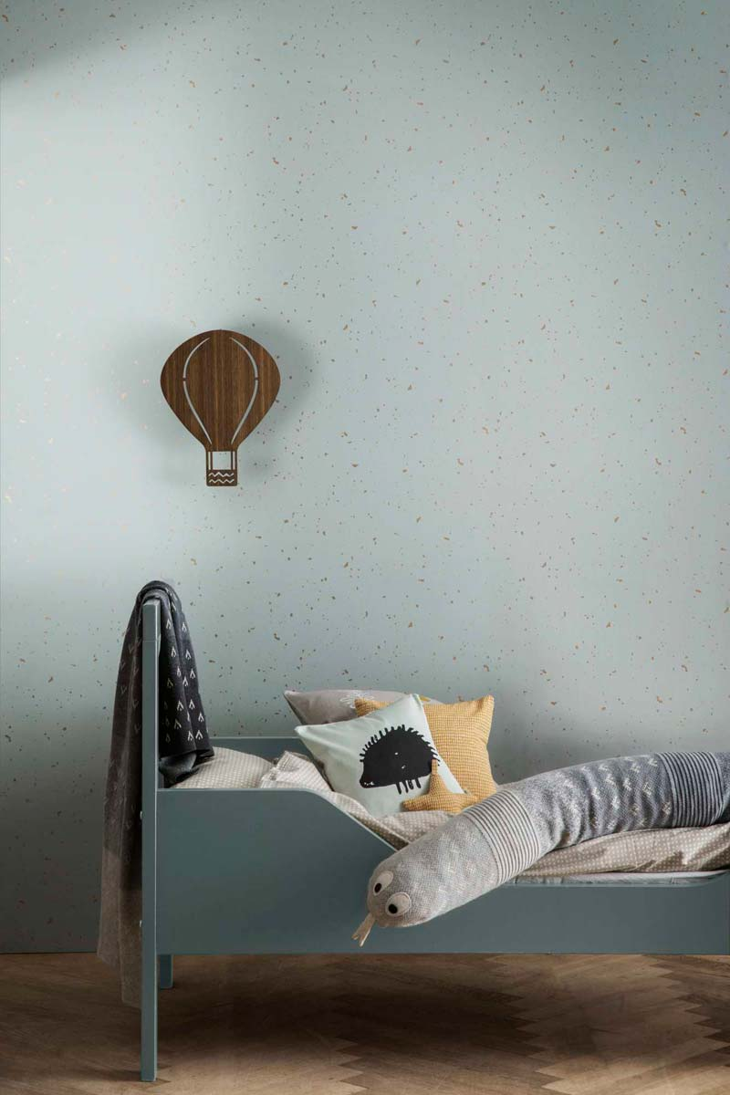 ferm living confetti behang groen