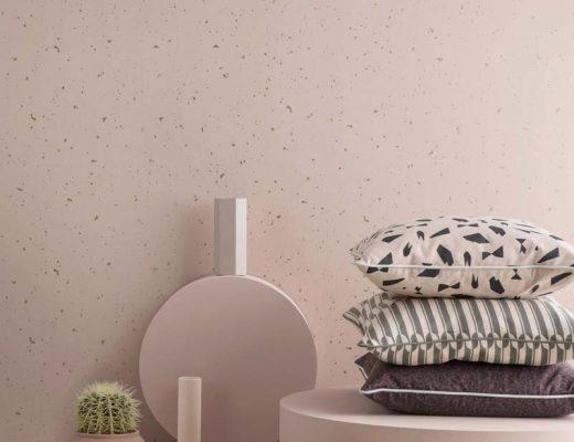 ferm living confetti behang roze